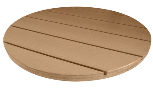 Picture of Vinyl Poly Patio Solid Color Round Outside Table Top