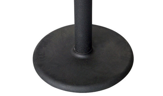"Picture of 18"" Round Smooth Contemporary Black Cast Iron Base"