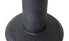 "Picture of 8"" Round Bolt Down Black Cast Iron Base"