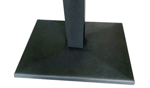 "Picture of 22"" Square Pedestal Black Cast Iron Base"
