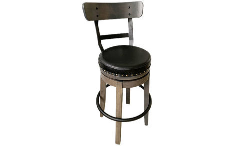 "30"" Seat Height Custom Bar Stool with Swivel Seat"