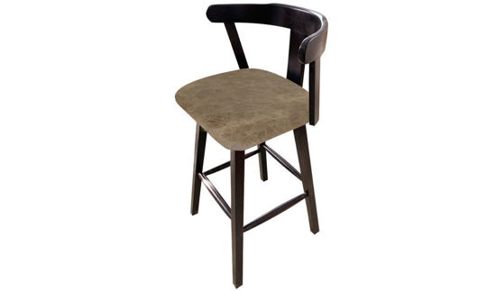 "42"" Empire Vinyl Upholstered Barstool with Wood Back"