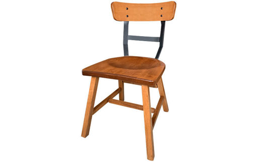 "32""  Liberty Wooden Side Chair with Metal ""H"" Back"