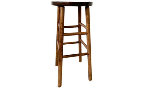 "30""  Backless Wood Royal Seat Barstool"