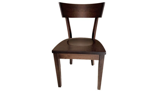 "33""  Ellis Solid Wood Frame Back Side Chair Dark Walnut Finish"