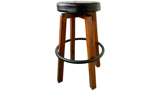 "30"" Backless Wood Dublin Seat Barstool"