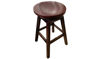 "30""  Canyon Backless Solid Wood Swivel Saddle Barstool"