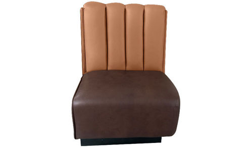 "36""  Fully Upholstered 6"" Channel Back Booth"