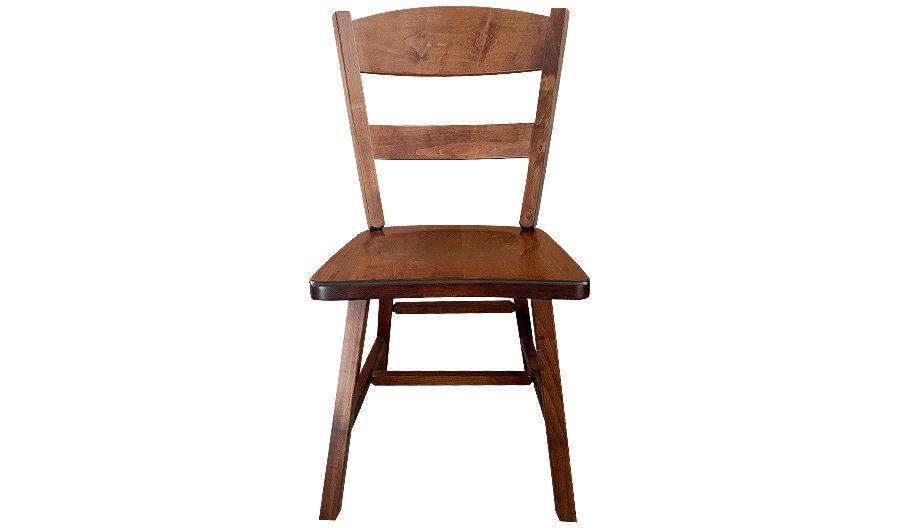 "35"" Cadillac Wood Side Chair with Saddle Seat"