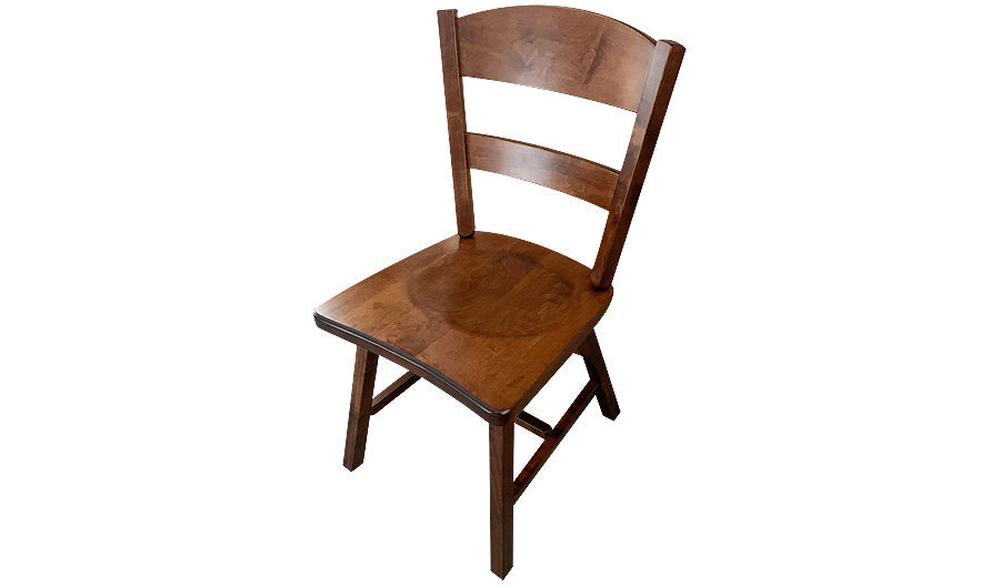 "35"" Cadillac Maple Wood Side Chair with Saddle Seat"