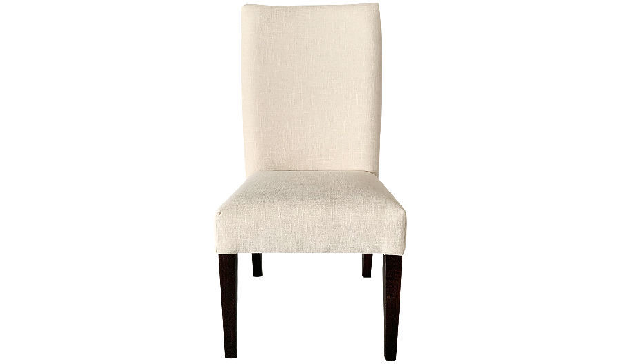 "39""  Sammy Side Chair Fully Upholstered White Fabric"