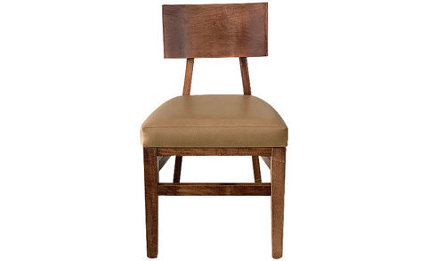 "Picture of 32"" Pulaski Solid Wood Side Chair Modern Square Back with Upholstered Seat"