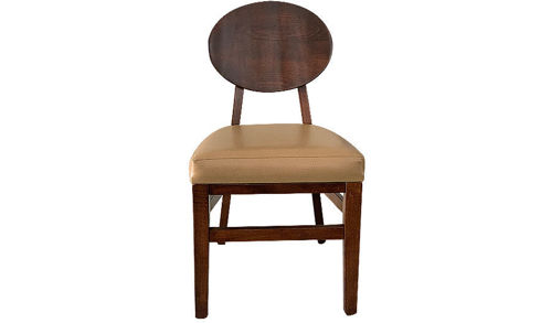 "Picture of 34"" Danville Solid Wood Side Chair with Upholstered Vinyl Seat"