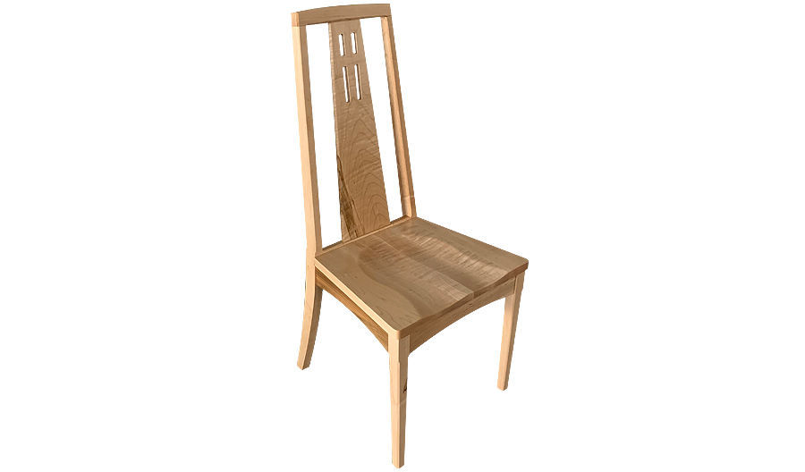 "40"" Freedom Tall Wood Side Chair with Saddle Seat"