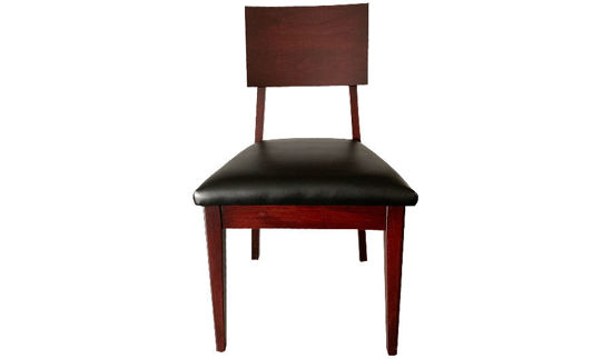 "35"" Katy Solid Wood Side Chair Square Back Upholstered Seat"