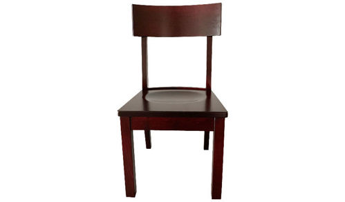 "Picture of 35"" Lancaster Side Chair with Wood Seat and Curved Back"