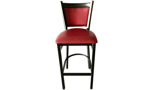 "41""  Metal Side Barstool with Upholstered Seat"