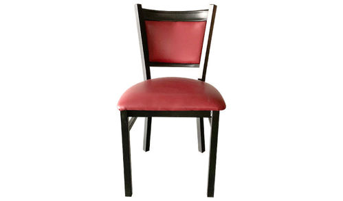 "41"" Metal Side Chair with Upholstered Seat"