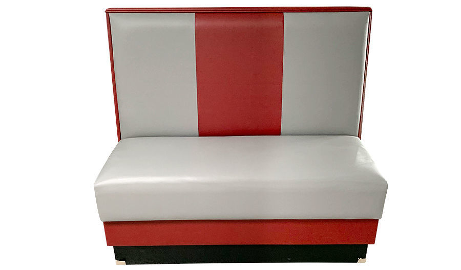 "Picture of 42""  Fully Upholstered Plain 3 Channel Back Booth"