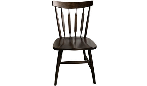 "36"" Bella Arrowback Maple Wood Side Chair with Saddle Seat"