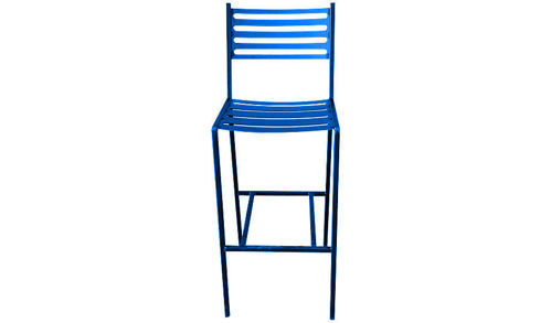 "Picture of 43""  Stalwart Solid Metal Barstool with Slat Seat and Back"