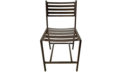 "Picture of 32""  Stalwart Solid Metal Side Chair with Slat Seat and Back"