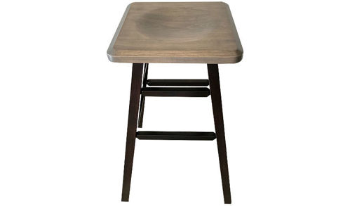 "Picture of 30""  Quadratum Backless Side Barstool Square Saddle Seat"