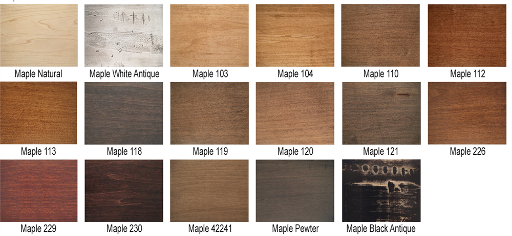 MAple Table Top Finishes