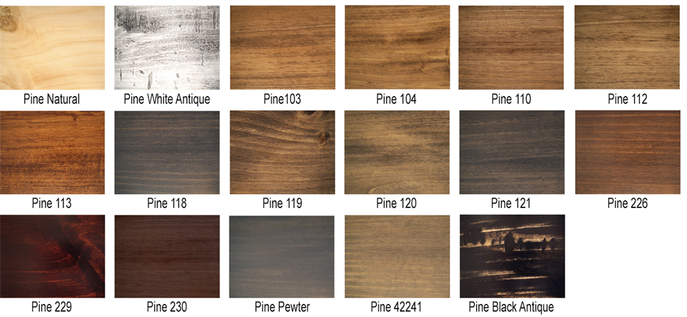 Pine Sample Finishes