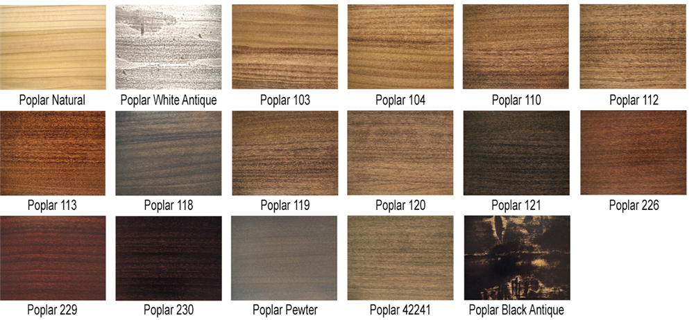 Poplar Stain Finishes